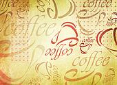 Grunge coffee cup background