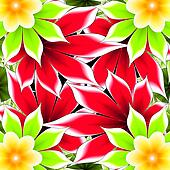 abstract frame applique flower