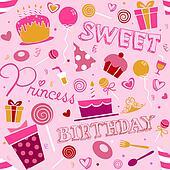 Birthday Girl Background Design