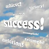 Success Words - Victory, Ambition,