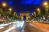 Arc de triomphe Paris at sunset