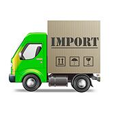 import delivery truck