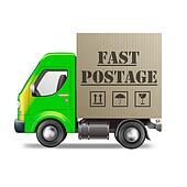 fast postage delivery truck
