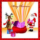 santa and sack