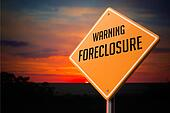 Foreclosure on Warning Road Sign.