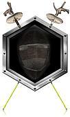 Fencing Sport - Metal Hexagonal Symbol