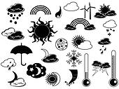 black weather icon