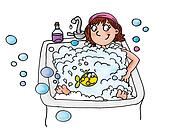 girl in bathtub,