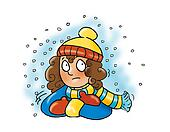 girl shivering,
