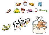 cows caterpillars boar