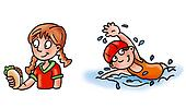 girl in the pool,