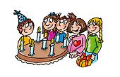 birthday cake, candles,