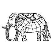 Decorative elephant illustration