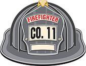 Firefighter Helmet Black