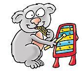 Koala plays