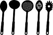 Kitchen utensils - vector