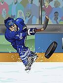 Toronto ice hockey player