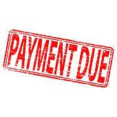 Payment Due Stamp