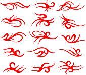 tribal scroll tattoo element