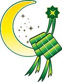 Ketupat & Moon