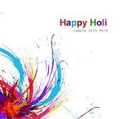Beautiful Illustration of holi colorful grunge background vector design