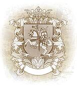 Coat of arms drawn by hand