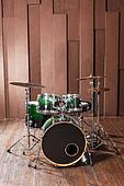 Drums on wooden background