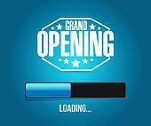 grand opening loading bar background illustration