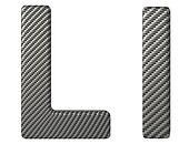 Carbon fiber font L lowercase and capital letters