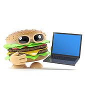 3d Burger has a new laptop pc