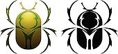 Scarab tattoo design