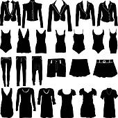 Womens clothing silhouettes