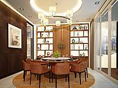 3d render of interior dining