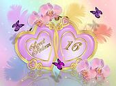 Sweet 16 invitation card
