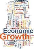 Economic growth is bone background concept