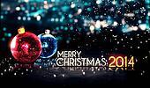 Merry Christmas 2014 Night Bokeh
