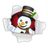 Thumb up snowman