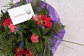Bouquet of Flowers with voucher in german