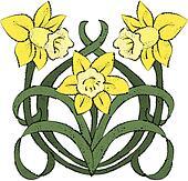 Nouveau Daffodils