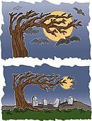 Graveyard and Bats
