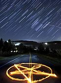 Pentagram and Star Trails