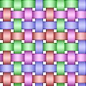 Multicolored interlacing  ribbons.