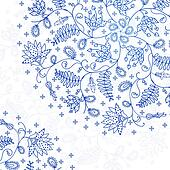blue lace background in vintage style