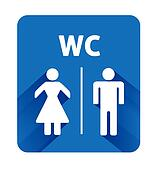 WC sign icon. Toilet symbol. Male and Female toilet.