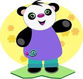 Smiling Baby Panda Bear