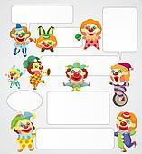 cartoon clown speech