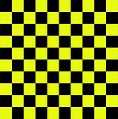 Black yellow chequered flag