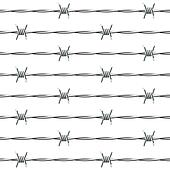 Barbed wire. Seamless.