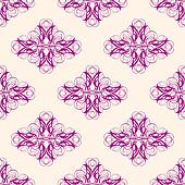Maroon and Creme Abstract Damask Seamless Pattern