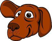 Funny dog head
